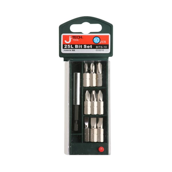 Jetech - 25L - 10 Pcs Bit Set With Plastic Case